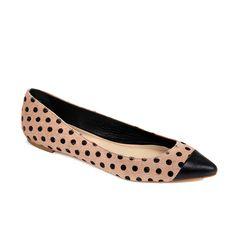 dotty flats for fall Capto Flat, Polka Dots, Randal Natali, Fashion Style, Natali Capto, Polkadot Flat, Flats, Shoe, Loeffler Randal