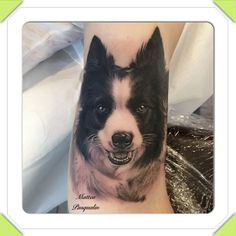 Dog portrait by Matteo Pasqualin #tattoo #dog #pup #portrait #tattoos