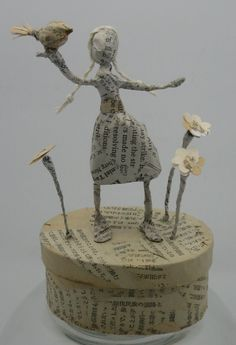 Paper mâché / wire sculptures
