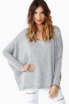 Static Knit in Gray
