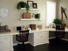 Would love a space like this for home office and crafts!
