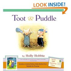 Toot & Puddle by Holly Hobbie (1997) Love this book! Preferred, presenting, arrived, deny, horrifying, etc. = tier 2 words.