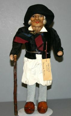 """Ravca"" Cloth Doll 'Peasant Man with Cane Floppy Hat' | eBay"