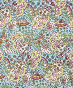 Liberty turquoise virginia cotton craft fabric