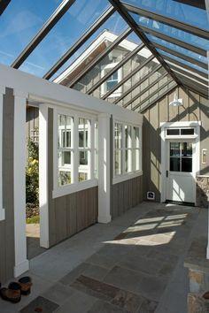 studio, detached garage breezeway, garage with breezeway, walkway, garage with guest house, guest houses, greenhouse breezeway