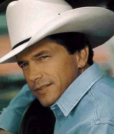 George Strait. Now that is what I call a good-looking man!
