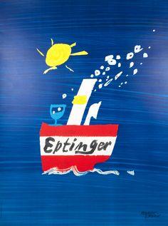 Herbert Leupin Poster: Eptinger (Boat)