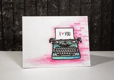 typewriter card by Cris