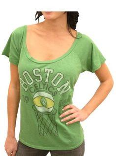 Cute off the shoulder Boston Celtics tee  $32  #NBA  #playoffs  www.junkfoodclothing.com