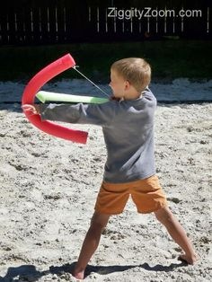 DIY foam bow and arrow from Pool Noodle!  #kids #crafts #DIY