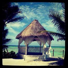 Wedding pavilion at El Dorado Seaside Suites. Gorgeous.