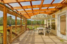 Large Covered Deck Overlooking Expansive 9+/- Acres.