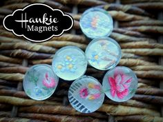 Easy DIY Craft: Glass Marble Magnets