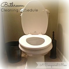 A Conquered Mess: The Cleaning Schedule That Saved My Bathroom