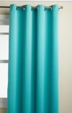 Re thunk turquoise curtains and yellow pops around the room - Turquoise and yellow curtains ...