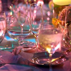 Party Ideas: Add Color and Light to your Centerpieces #receptiondecor #centerpieces