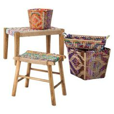 Threshold Woven Jute Stool from Target. Want!