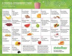 Tropical Vegan Shakeology Calendar of Recipes