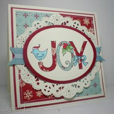 Christmas Joy Card by Joan Ervin #Christmas, #Cardmaking