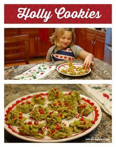 Holly Cookies - A Bi