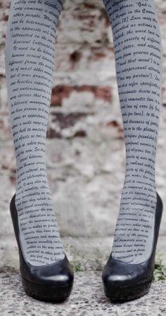 Love Text Print Tights Grey & Black- Fashion Print Tights | TrendyLegs