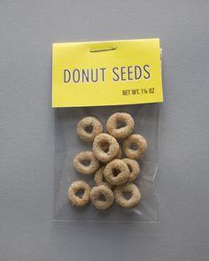 donut seeds..how cute
