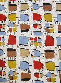 50's fabric design