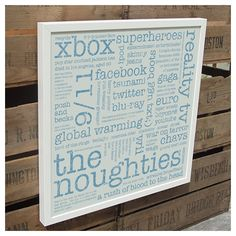 the noughties unframed recycled paper print | wood and willow
