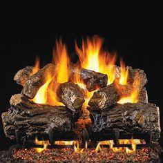 Family room fireplace.  Real Fyre Burnt Rustic Oak Vented Gas Log Set