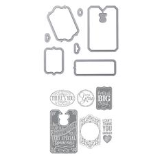 This is the new Chalk Talk Bundle from Stampin' Up!  It features the Chalk Talk stamp set and coordinating framelits!  Get yours for only $37.25!
