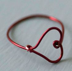 how to make a wire heart finger ring