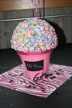 Cool idea for any milestone birthday ex. 50th - 50 sucks :)