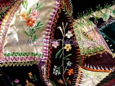 Turn of the Century Crazy quilt made by the Moran girls.