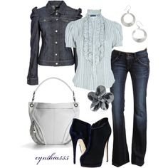"""""""Blue on Blue"""" by cynthia335 on Polyvore"""