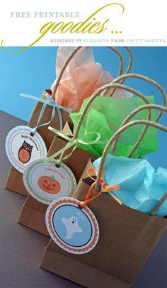 Free Halloween Printable bag tags