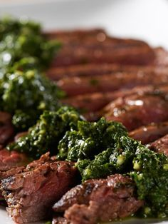 This grilled chimichurri flank steak is perfect for summer.