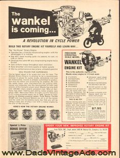 1972 Wankel Rotary Engine Kit – the Wankel is coming