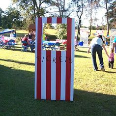 Vbs Carnival Party Ticket Booth - out of cardboard?