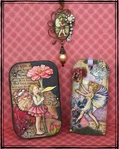 Altered art tags and envelopes...love!