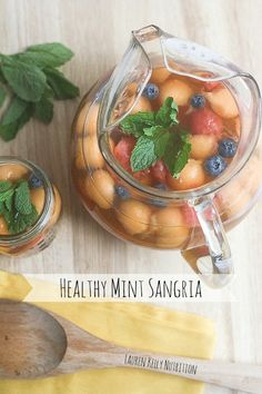 Healthy Mint Sangria from Lauren Kelly Nutrition