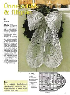 Filet Häkeln / crochet  Schleife Engel -Christmas ribbon   with diagram