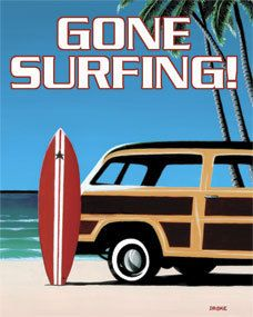 Gone Surfing! Metal Sign, $1.99  (orig. $10.99)(http://www.caseashells.com/gone-surfing-metal-sign/)