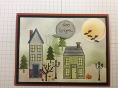 Halloween home scenic card