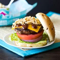 Barbecue Bacon Cheeseburgers >> by Tastes of Lizzy T's