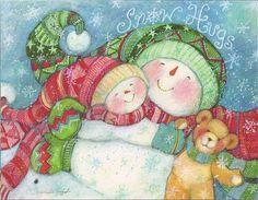 Snow Hugs...Snowman...Merry Christmas | Flickr - Photo Sharing!