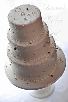 cake idea, weddings, pearls, winter wonderland wedding cake, wedding cakes, edibl pearl, pearl anniversary cakes, pearl cake, wonderland cake