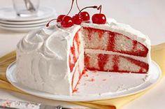 Cherry-Vanilla Poke Cake - Holidays