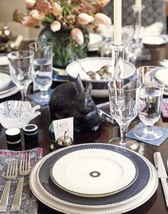 Indian Weddings Inspirations. Black and White Tablescapes. Repinned by #indianweddingsmag indianweddingsmag.com