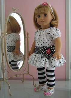 18 inch American Girl Doll Clothes /peasant dress by MenaBella, $25.00