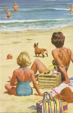 Picnics on the beach in summer